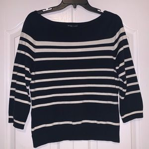 ☀️ New York & Co Navy Blue/White Stripe Sweater